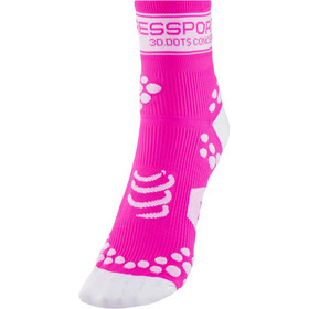 Compressport Racing V2 Chaussettes, fluo pink